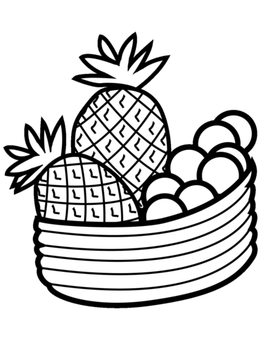 371x480 Bowl With Fruits Coloring Page Free Printable Coloring Pages
