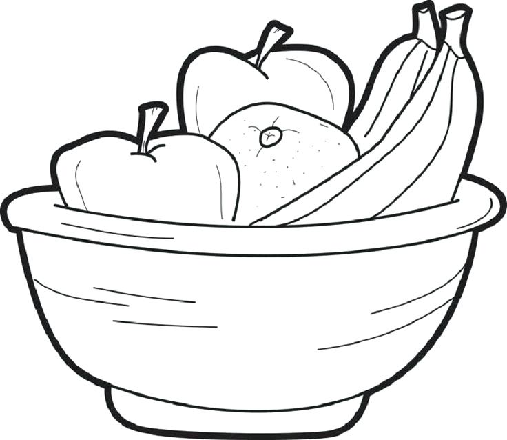 736x638 Fruit Basket Coloring Pages Empty Fruit Bowl Coloring Page Pages