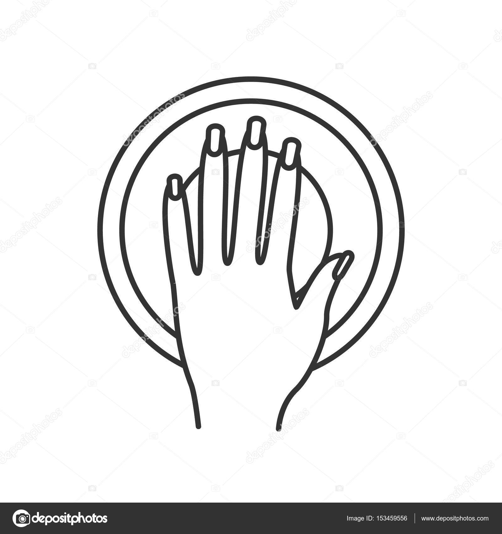 1600x1700 Manicure Bowl Linear Icon Stock Vector Bsd