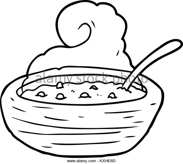 602x540 Bowl Soup Illustration Black And White Stock Photos Amp Images