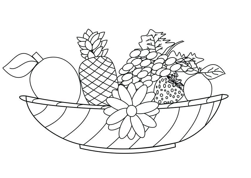 857x607 Fruit Basket Coloring Pages X X Fruit Basket Coloring Pages Print