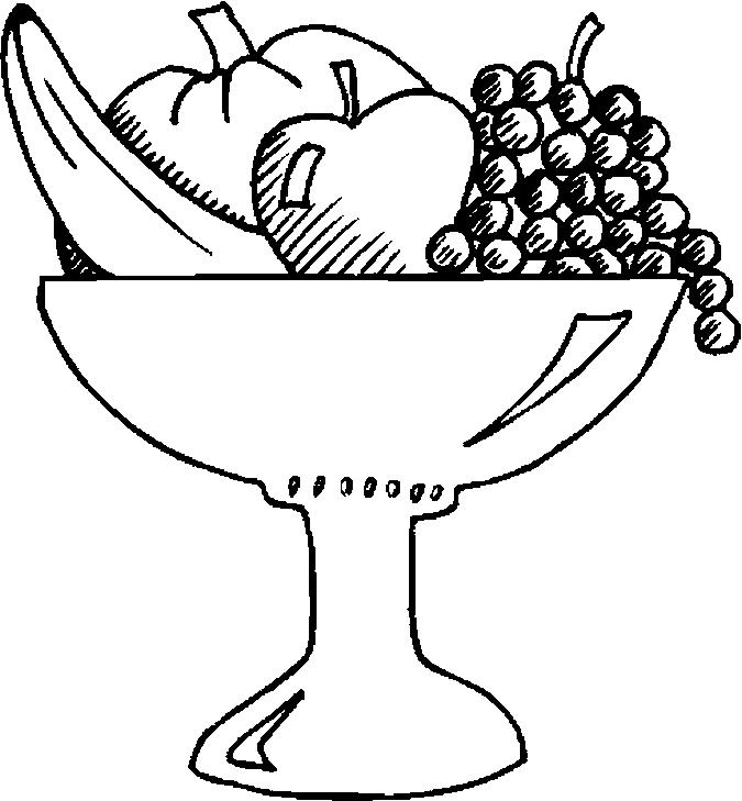 675x729 Fruit Bowl Coloring Pages