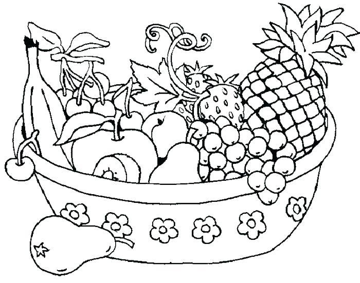 700x551 Fruit Color Pages Fruit Vegetable Coloring Sheets Fruits