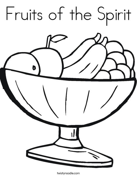 468x605 Fruits Of The Spirit Coloring Page