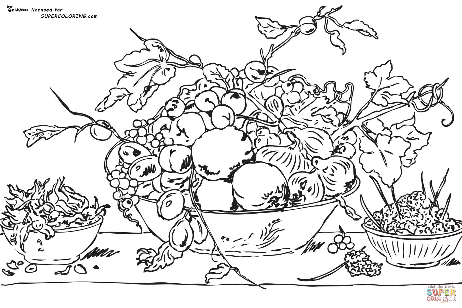 1802x1200 Fruits In A Bowl On A Red Tablecloth By Frans Snyders Coloring