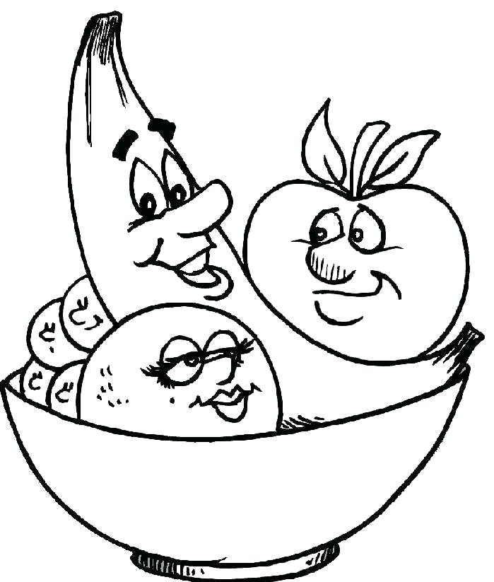 699x823 Luxury Fruits Coloring Pages Image Fruit In Bowl Colouring