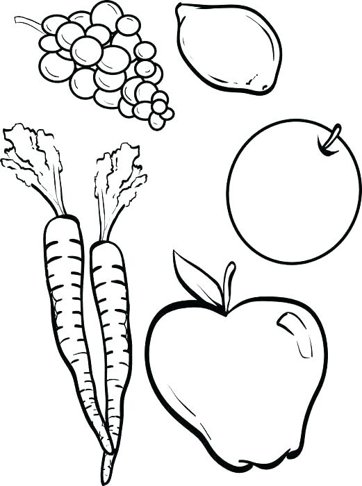 521x700 Printable Fruit Coloring Pages Related Post Free Printable