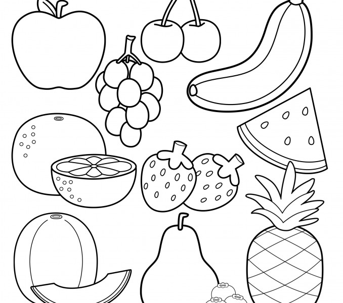678x600 Coloring Pages Fruit Coloring Sheets Pages To Print For Kids