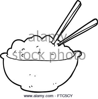 315x320 Line Drawing Of A Bowl Of Rice Stock Vector Art Amp Illustration
