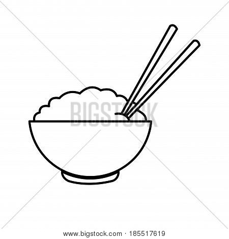 450x470 Bowl Rice Chopsticks Cooked Dinner Vector Amp Photo Bigstock