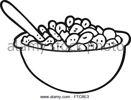 418x320 Bowl Of Cereal Line Drawing Stock Vector Art Amp Illustration