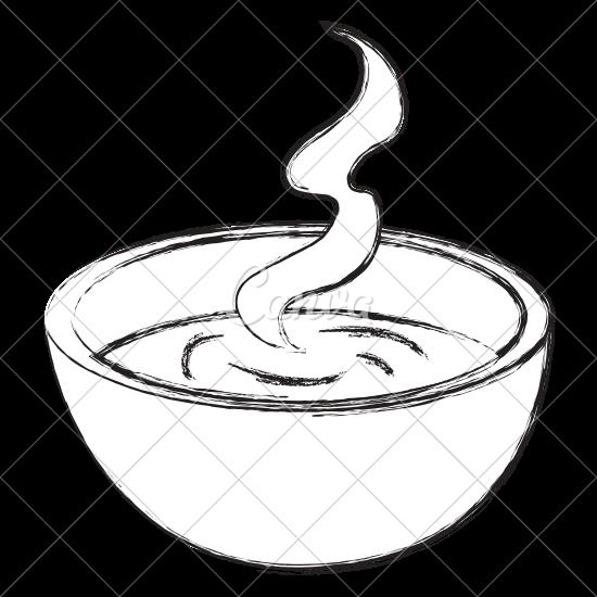 550x550 Soup Bowl Sketch