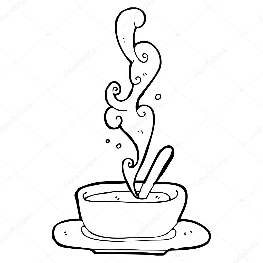1024x1024 Steaming Bowl Of Soup Stock Vector Lineartestpilot