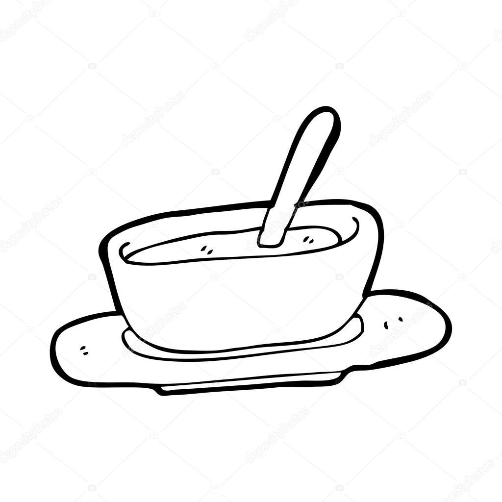 1024x1024 Bowl Of Soup Cartoon Stock Vector Lineartestpilot