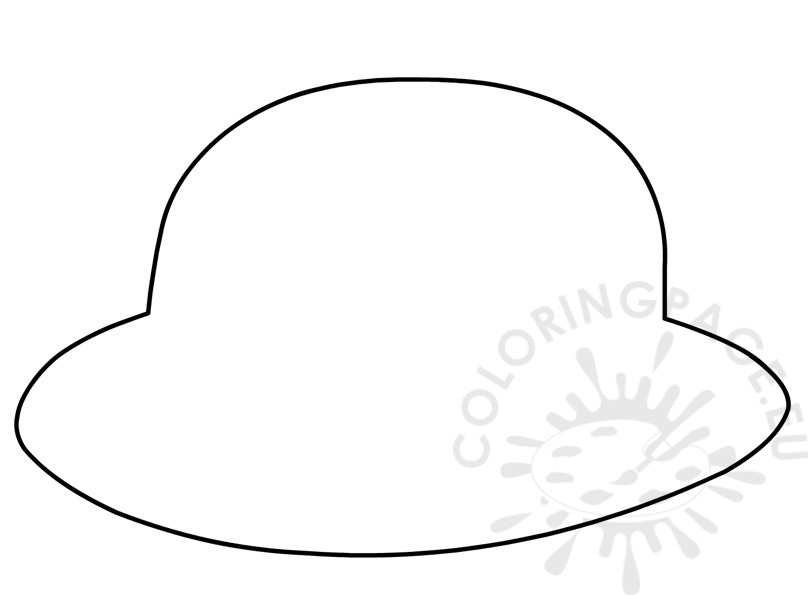 808x595 Classic Bowler Hat Template Coloring Page