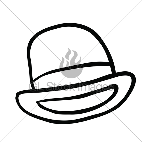 500x500 Black And White Bowler Hat Gl Stock Images