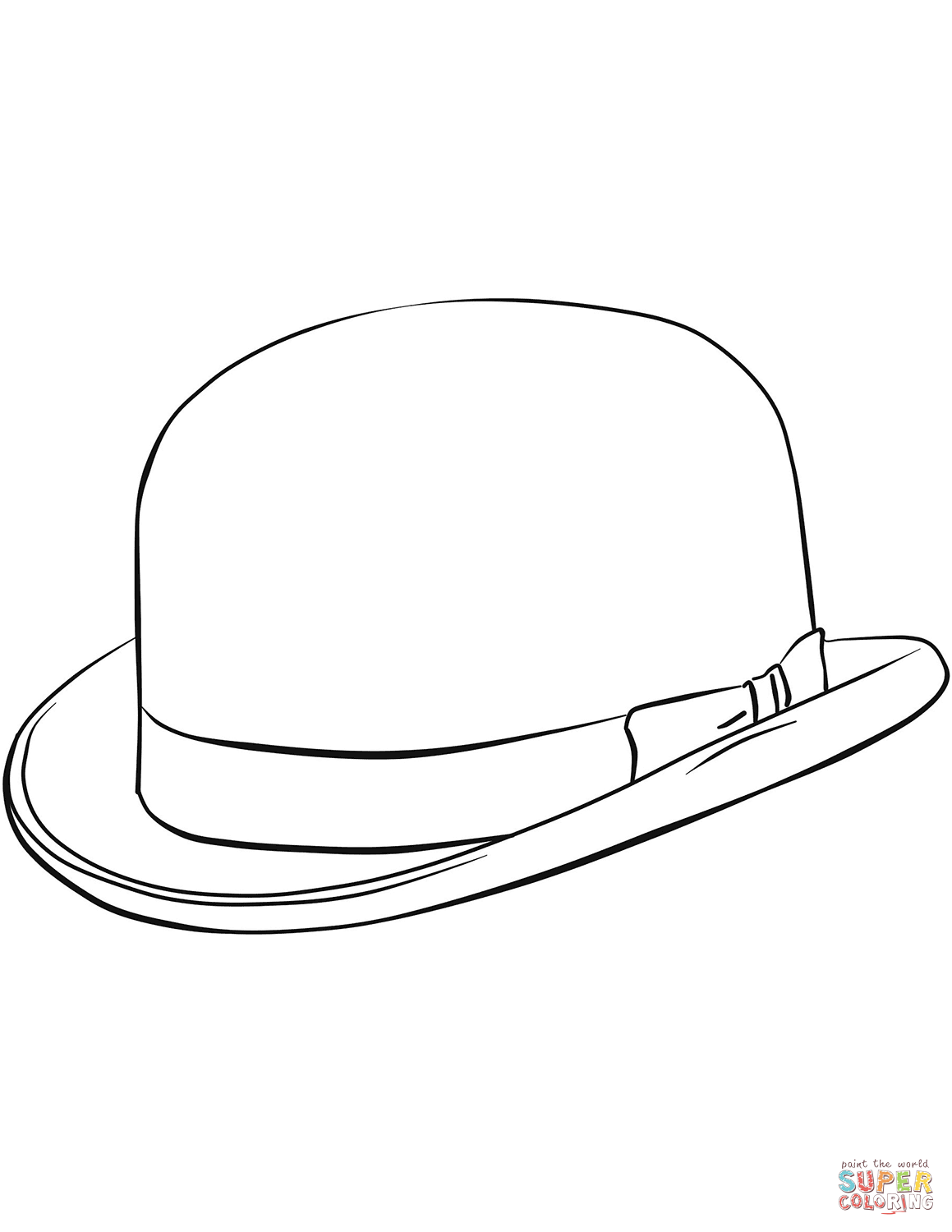 1159x1500 Bowler Hat Coloring Page Free Printable Coloring Pages