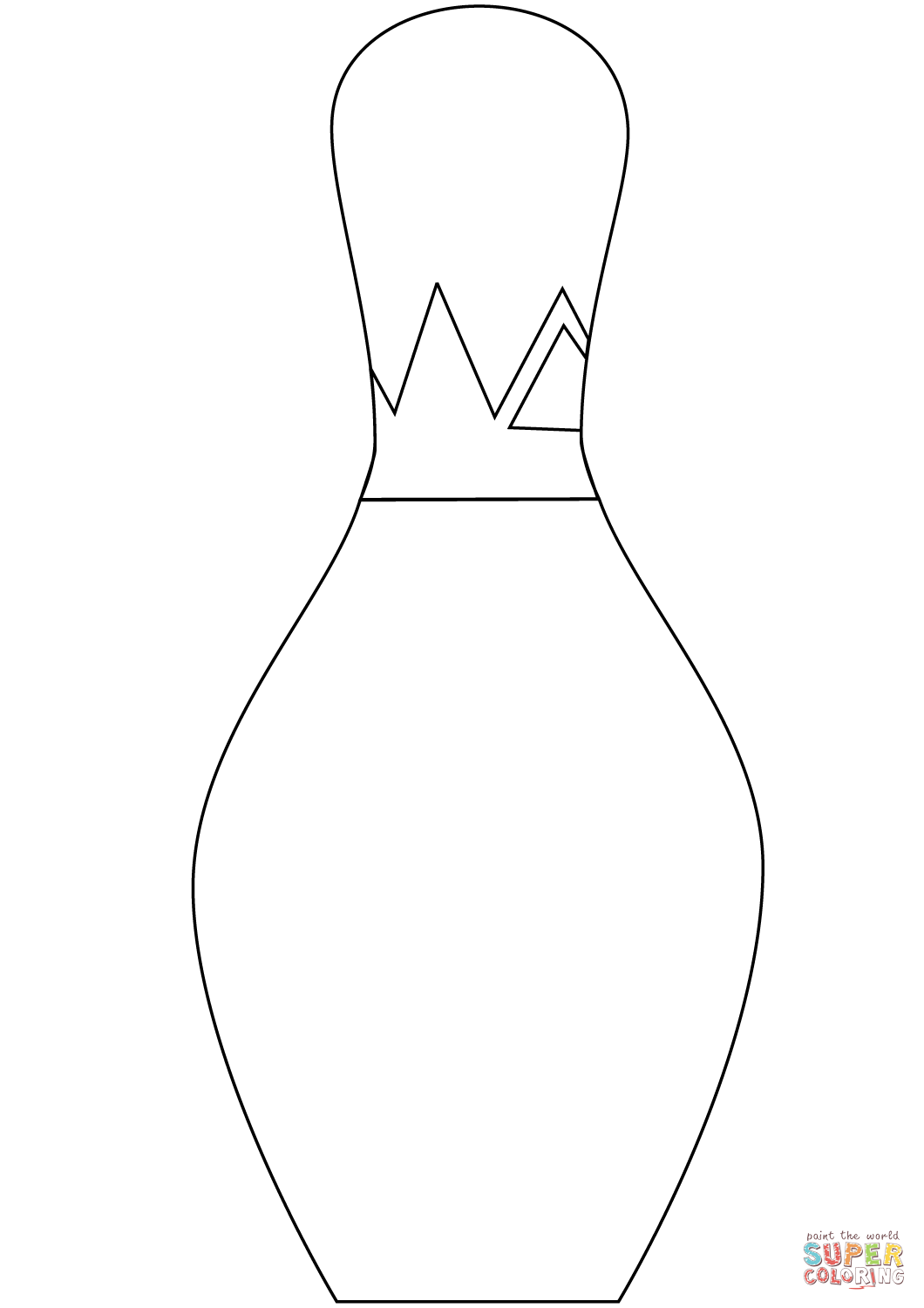 1060x1500 Bowling Pin Coloring Page Free Printable Coloring Pages
