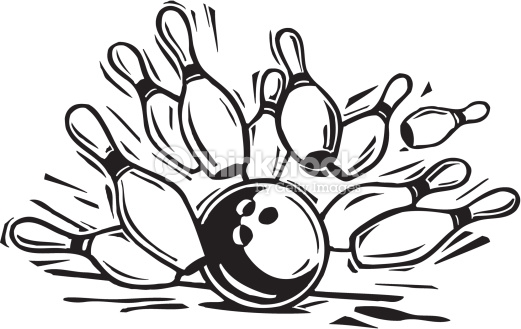 521x329 Bowling Clipart Black And White