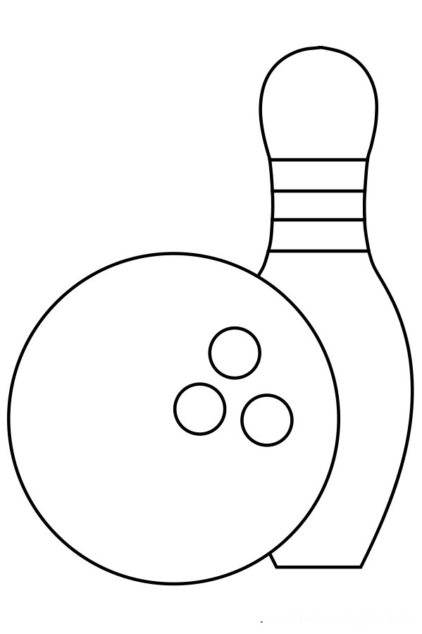 599x899 Bowling Coloring Pages Birthday Printable
