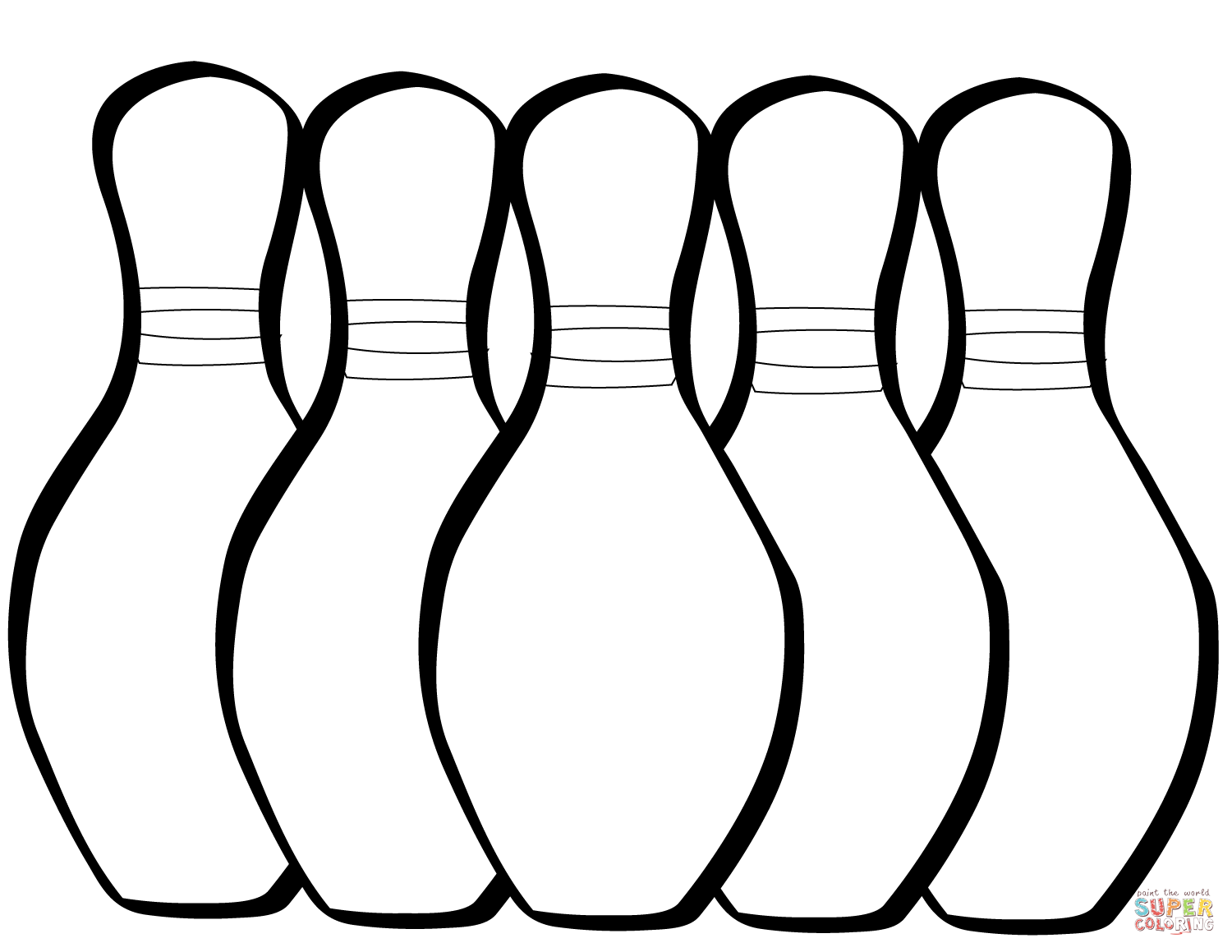1500x1159 Five Bowling Pins Coloring Page Free Printable Coloring Pages