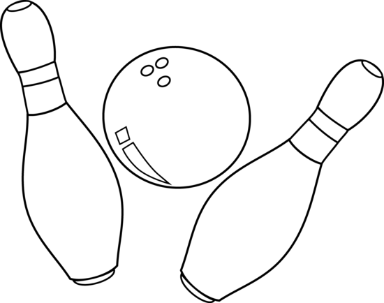550x434 Bowling Clip Art By White Lions Coloring For Kids