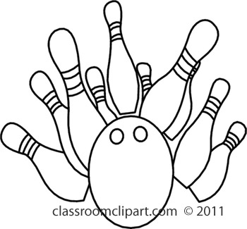 350x325 And White Bowling Clipart