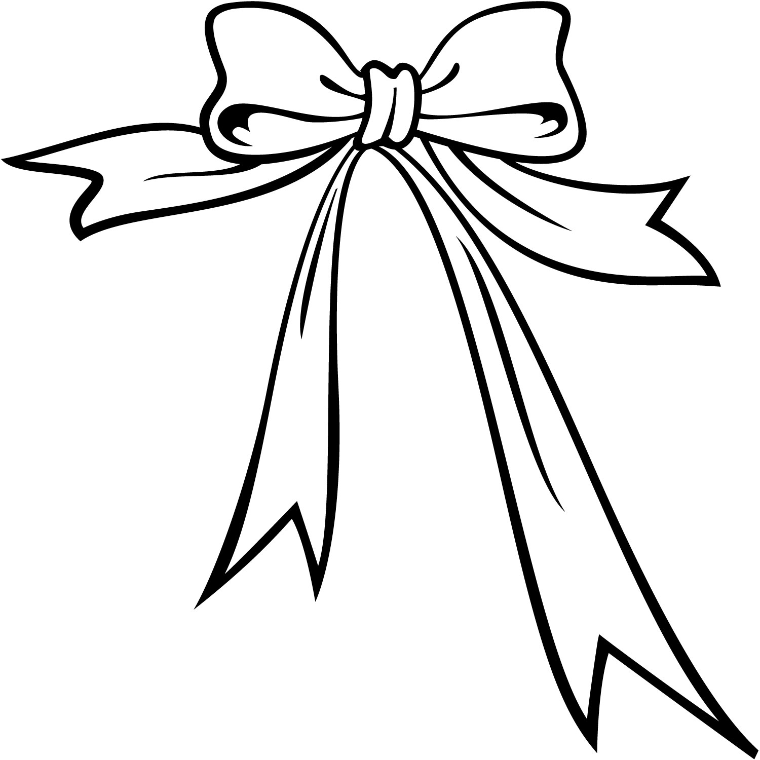 1500x1500 Black And White Bow Clip Art