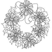 220x220 Bows And Ribbons Wreath Coloring Pages