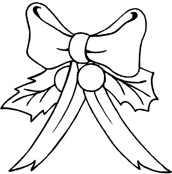 715x724 Christmas Bow Coloring Page