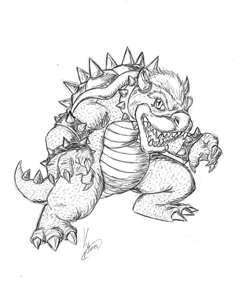Bowser Drawing