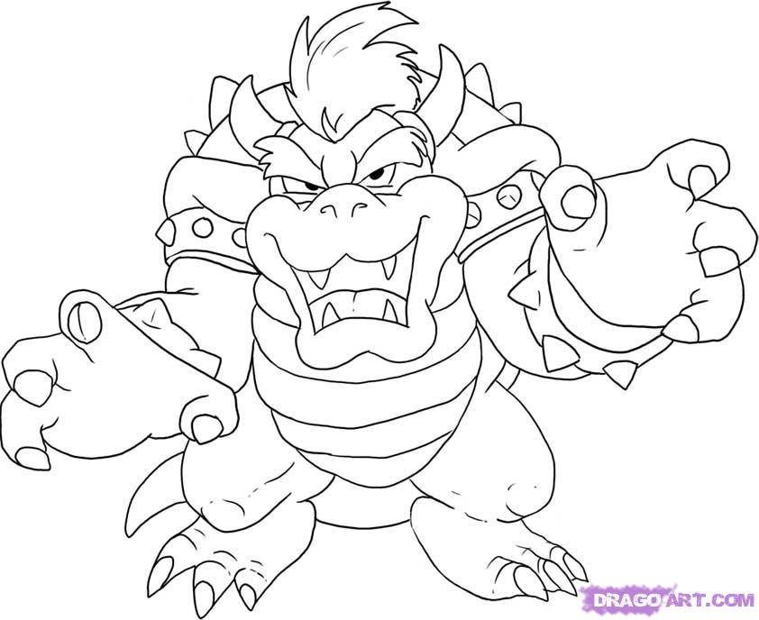 842x688 Bowser Drawing By Jorspidey