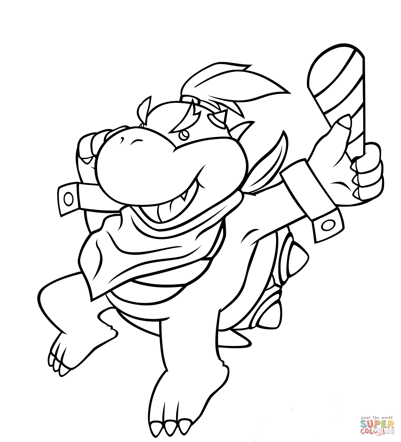 Bowser Jr Drawing at GetDrawings.com | Free for personal use Bowser ...