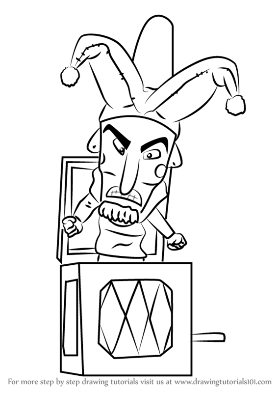 567x800 Learn How To Draw Jack In The Box From Fantasia (Fantasia) Step By