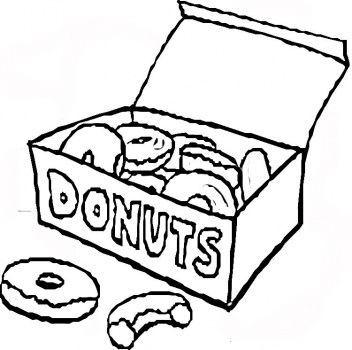 352x350 Box Of Donuts (Drawing) Dounuts Donut Drawing