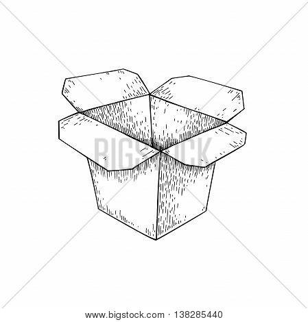 449x470 Chinese Food Box Vector Drawing. Vector Amp Photo Bigstock