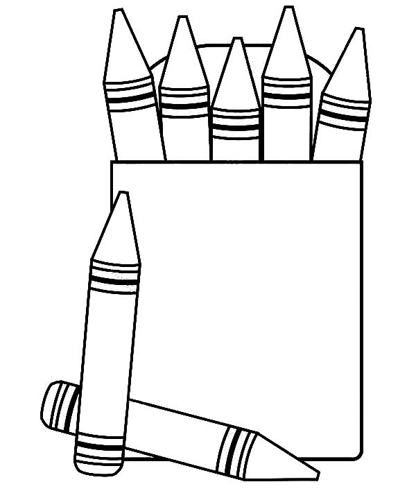 600x708 Coloring Pages Graceful Crayon Coloring Pages Box Free To Print