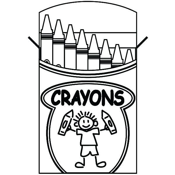 600x600 Entertaining Crayon Coloring Pages Free Download Kids Lifting Box