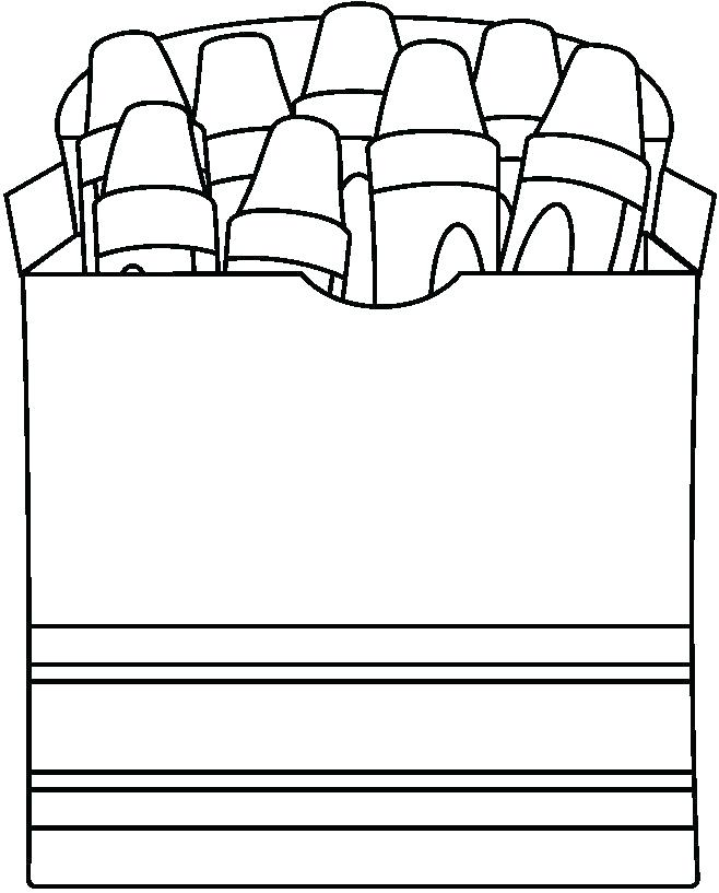 658x817 Box Coloring Page