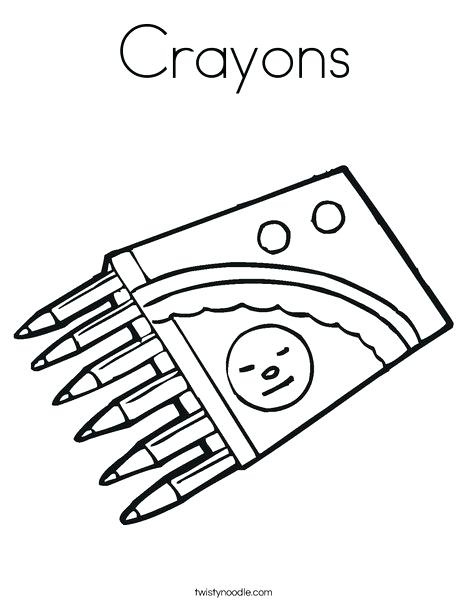 468x605 Box Of Crayons Coloring Page