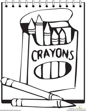 301x389 Color The Crayons Worksheet