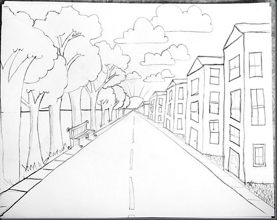 563x447 Really Amazing Breakdown Of How To Teach One Point Perspective