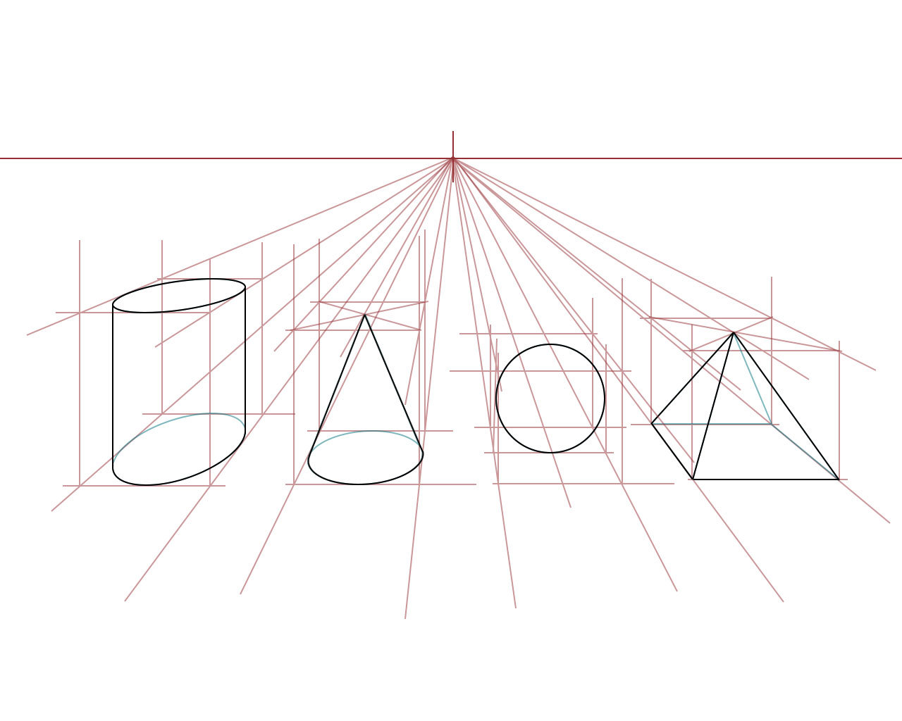 1280x1024 Exercise Drawing A Box In One Point Perspective
