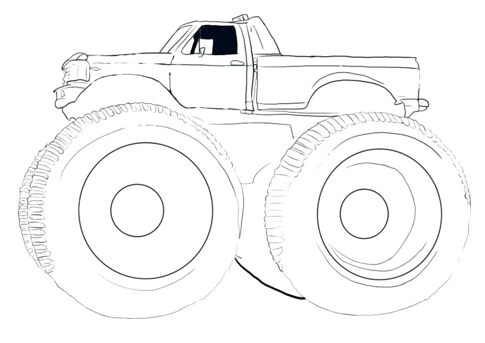 960x679 Monster Truck Box Coloring Page Fresh Printable Monster Truck