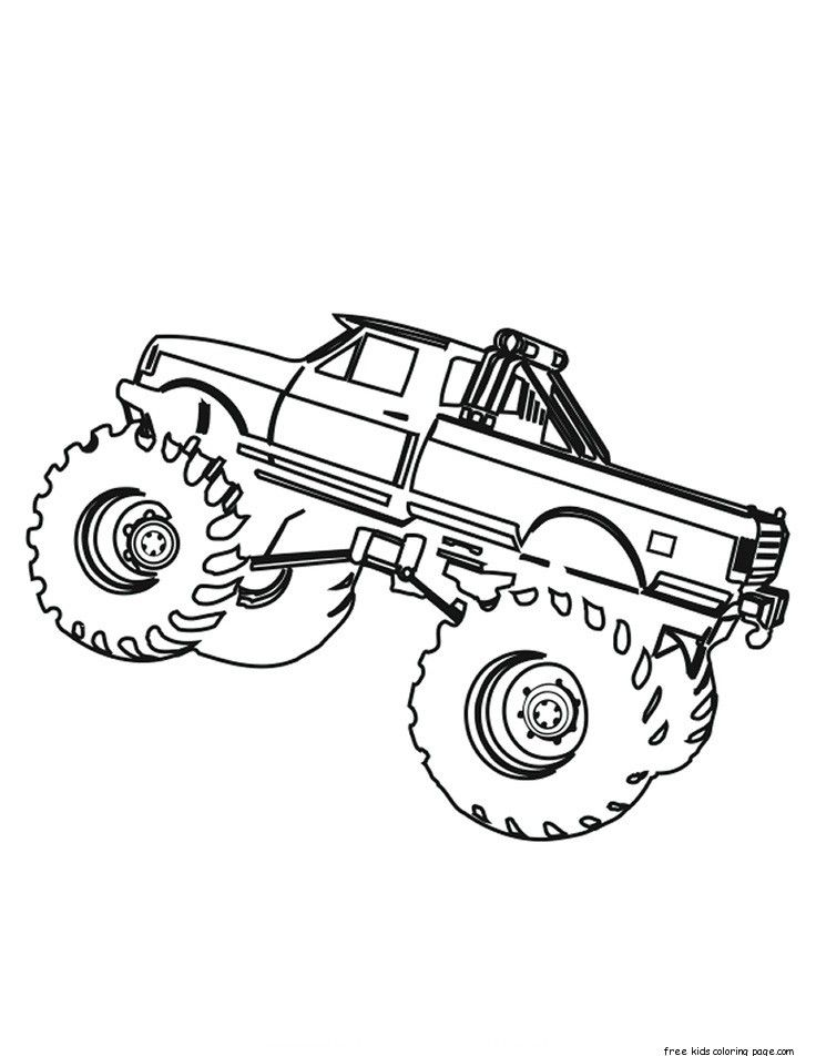 736x952 Printable Monster Truck Coloring Pages For Kids.print Out Monster