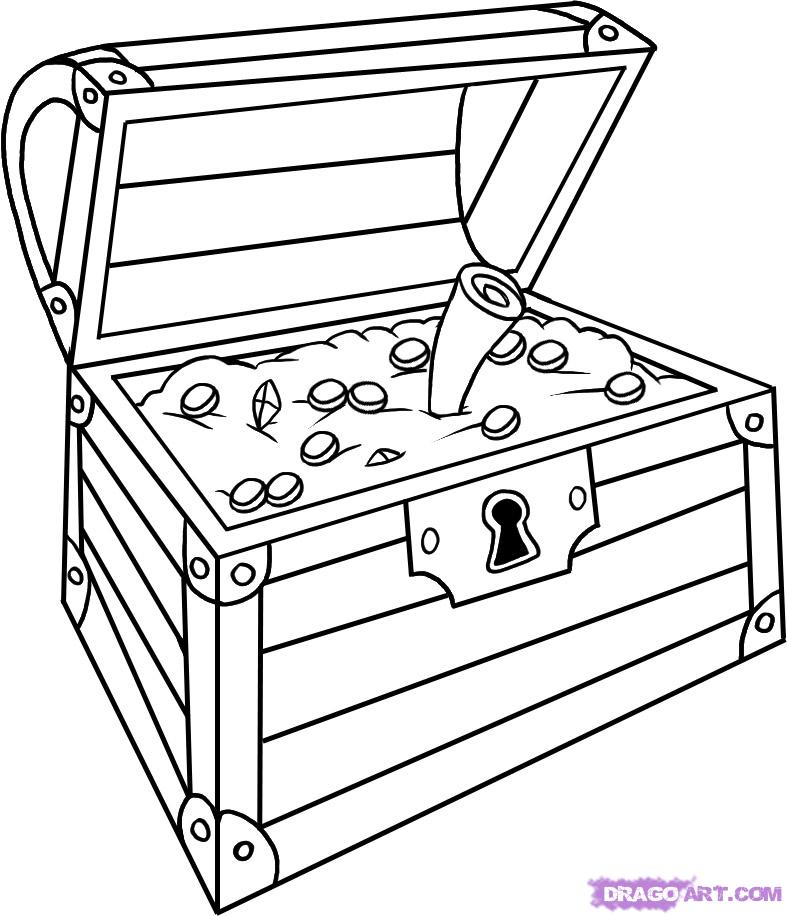 787x916 Treasure Chest Pictures To Print And Color Images Of How To Draw