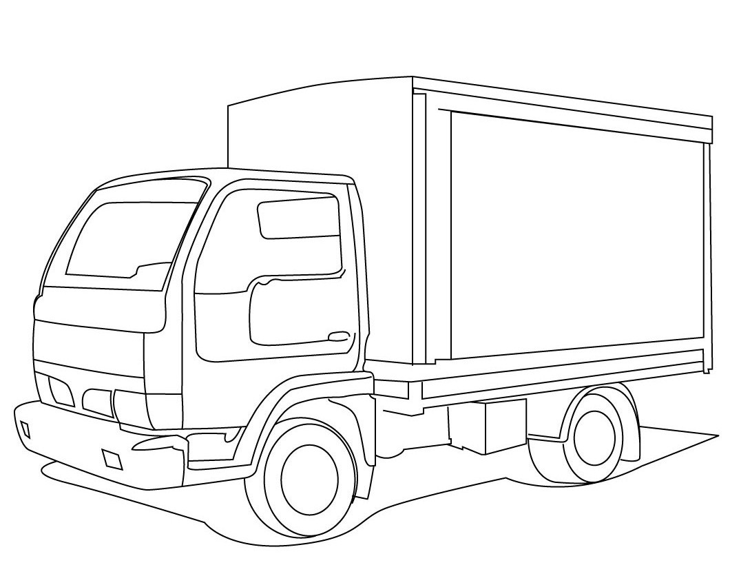 1060x820 Easy Truck Box Coloring Pages