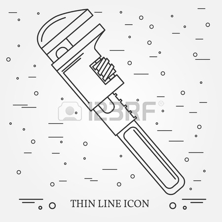 450x450 Wrench Icon. Wrench Icon Vector. Wrench Icon Drawing. Wrench