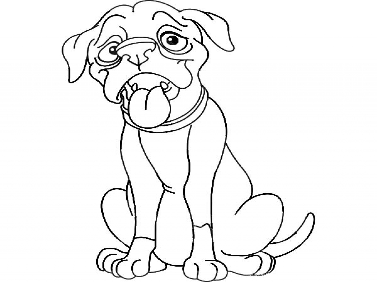 Boxer Dog Drawing at GetDrawings.com | Free for personal use Boxer ...