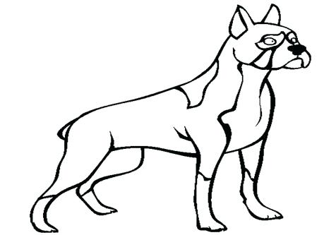 476x333 Boxer Dog Coloring Pages Boxer Dog Line Art 2 Boxer Dog Coloring